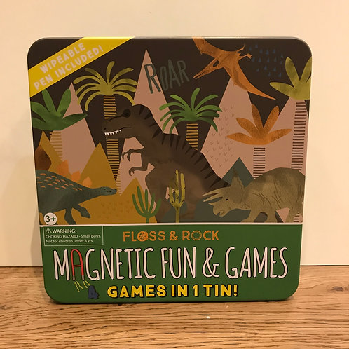 Floss & Rock: dinosaur magnetic games tin