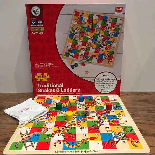 BigJigs: Traditional Snakes & Ladders Game