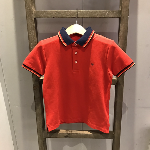 Mayoral: 3150 - Red/Navy Collar Polo Shirt
