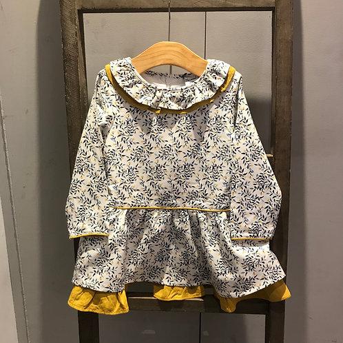 Newness: Cream/Mustard Dress & Tights