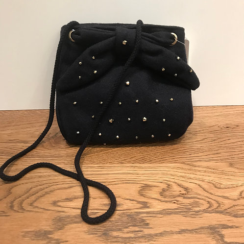 Mayoral: Navy Felt Bead Bag