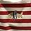Thumbnail: Mayoral: Stripe Sleeveless Romper (Red/White)