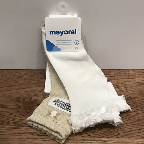 Mayoral: 10787 2 Pack - Cream/Gold