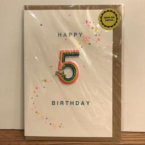 Card: Birthday (Age 5)