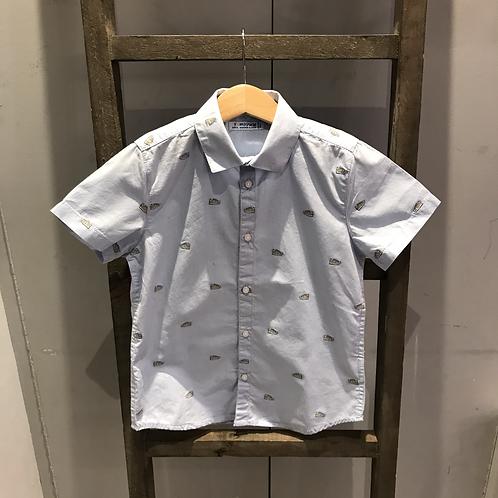 Mayoral: 3167 - Blue Trainer Print Shirt
