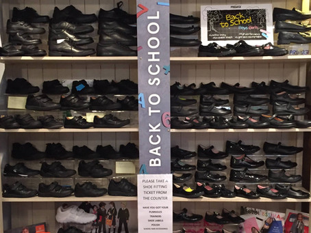 Back To School: We stock a full range of school shoes for boys and girls
