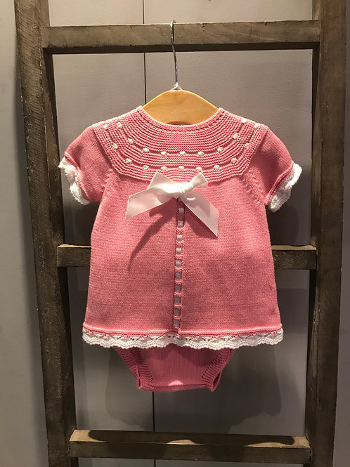 Nico Dingo: Candy Pink Short Sleeve Knitted 2 Piece