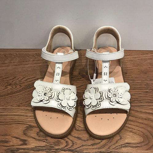 Geox: White Open Toe Sandals