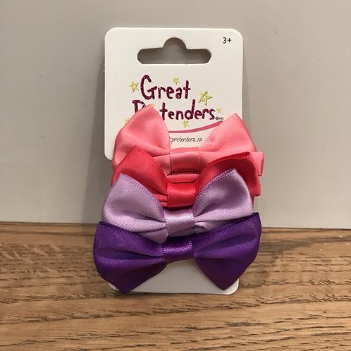 Great Pretenders: 88759 - Satin Bow Hair Elastics