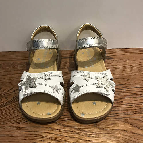 Start-Rite: Twinkle - White Silver Sandal