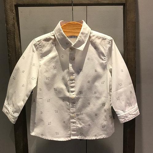 Mayoral: White Dog Print Shirt