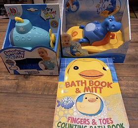 Bath toys at Sid & Evie's in South Woodf