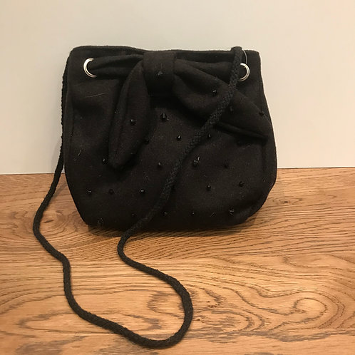 Mayoral: Black Felt Bead Bag