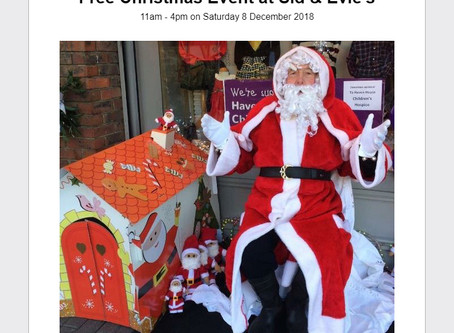 December Newsletter: Free Christmas Event at Sid & Evie's