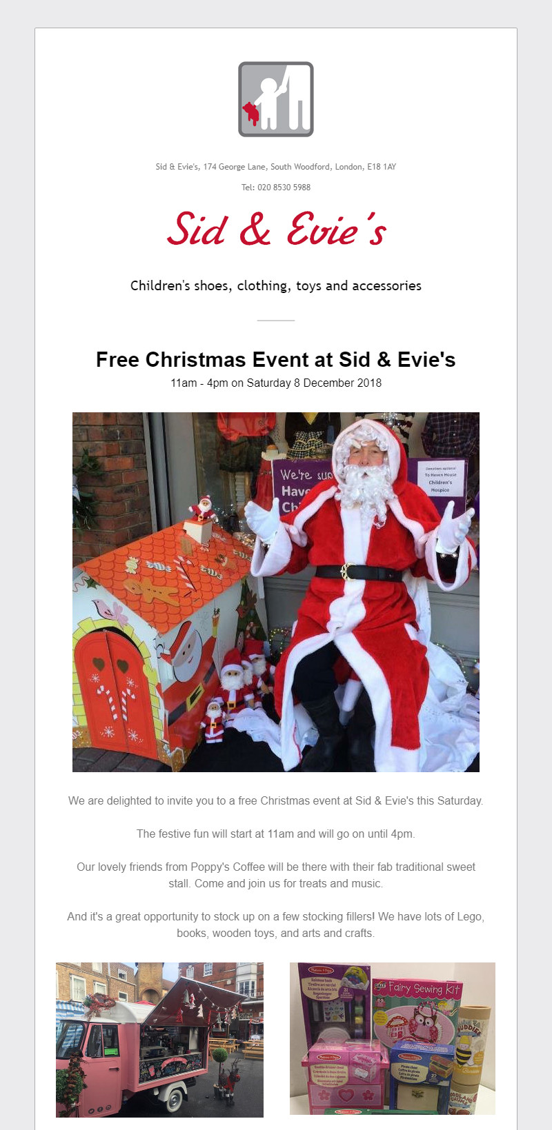 Sid & Evie's Newsletter