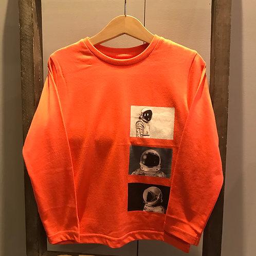 Mayoral: 4086 Orange Long Sleeve T-Shirt