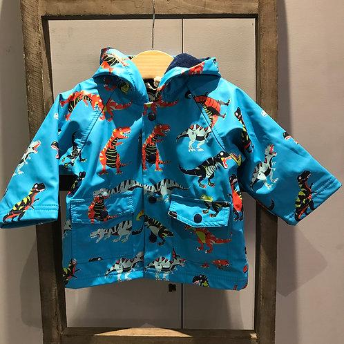 Hatley: Roaring T Rex - Blue Raincoat