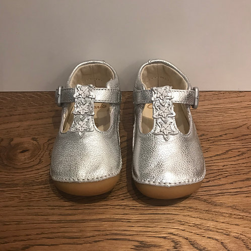 Clarks: Tiny Flowers T - Silver First Walker