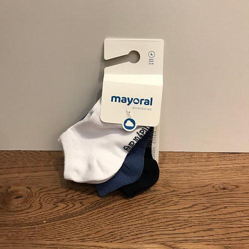 Mayoral: White Trainer Socks
