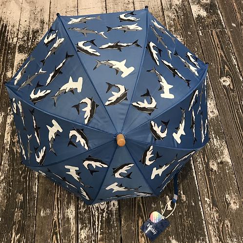Hatley: Colour Changing Shark Umbrella - Blue