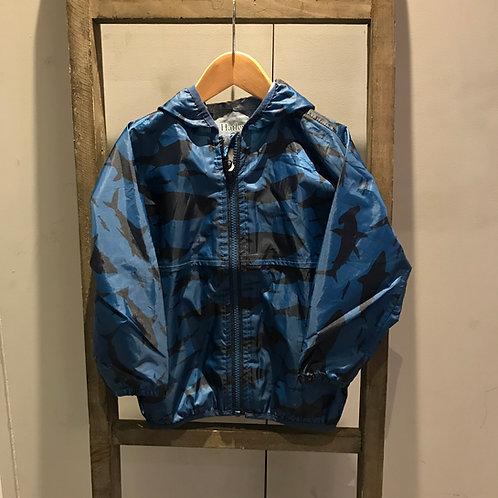 Hatley: Sharks - Blue Raincoat