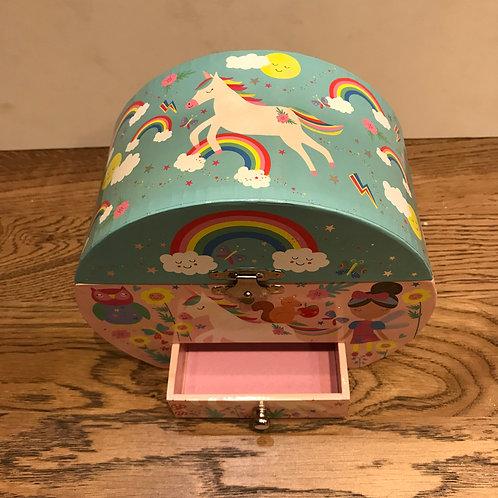 Floss & Rock: Rainbow Unicorn Jewellery Box