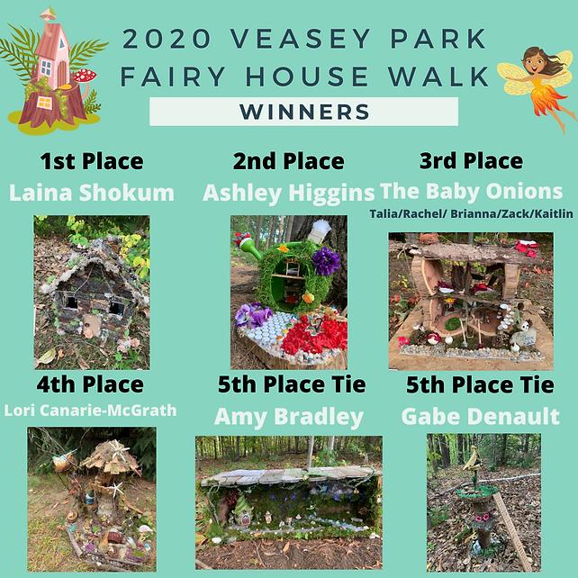 2020 Veasey Fairy House Walk Winners fin