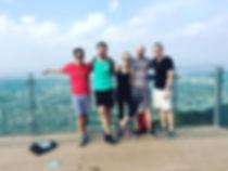 Eric, Adam, Morgan and Leighton hiking p