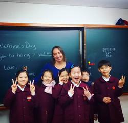 Korea - Rachel with students