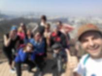 Teachers hiking Mudeungsan