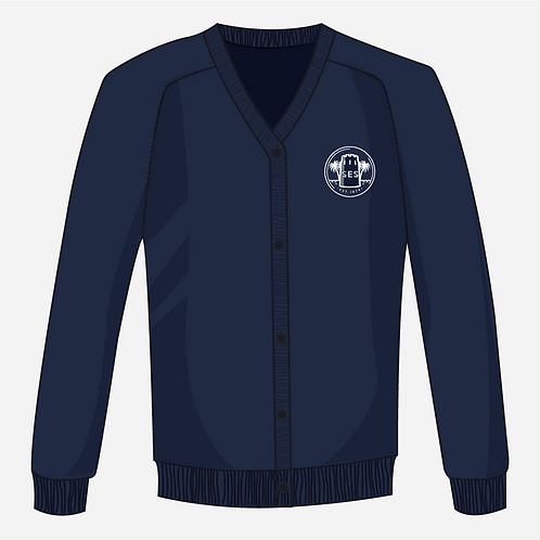 Navy Blue Knitted Cardigan Girl's