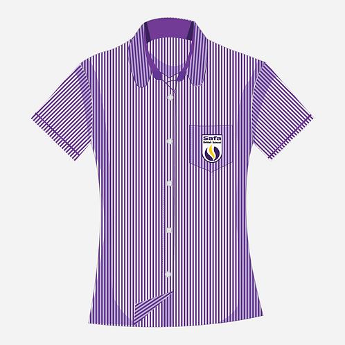 SAFA • Girls Purple Stripe Blouse