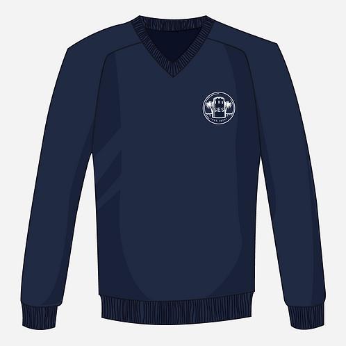 Navy Blue Knitted Jumper Boys