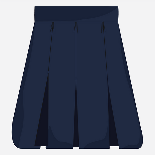 Navy Blue Pleated  Skirt Girl's [ Year 3 to Year 6 ]