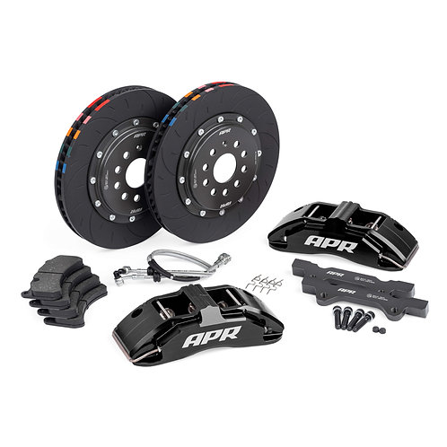BRAKES, 350x34mm, 6 PISTON, MK7 Golf R/S3, Black, WITH PADS | APR000003