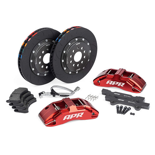 BRAKES, 350x34mm, 6 PISTON, MK7 Golf R/S3, Red, WITH PADS | APR000002