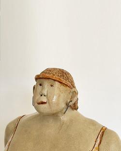 Keramik, H: 58 cm, Unikat, wetterfest, 2