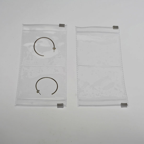 3 x 6 clear center- split zipper pouch-100 pack