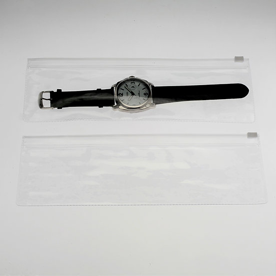 3 x 10-1/2 clear zipper pouch-100 pack