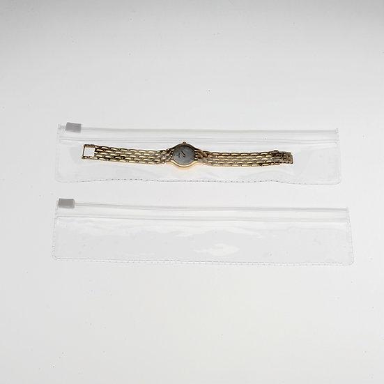 1 x 8 clear zipper pouch-100 pack