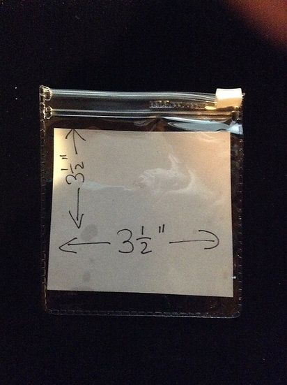 3-1/2 x 3-1/2 clear zipper pouch-100 pack