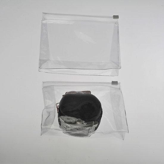 5-3/4 x 2 x 4-3/4  clear expandable zipper pouch-100 pack