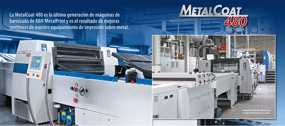 barnizadora KBA Metalprint 480 470 barnizadoras