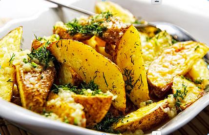 Garlic & Rosemary Potatoes