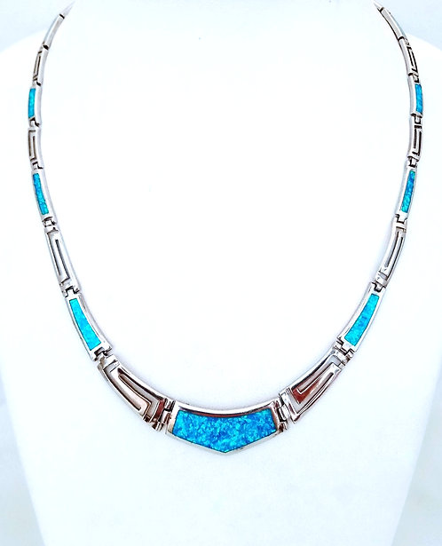 Meander Necklace with opal