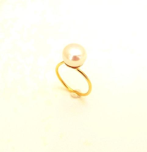 Δαχτυλίδι με μαργαριτάρι Κ18