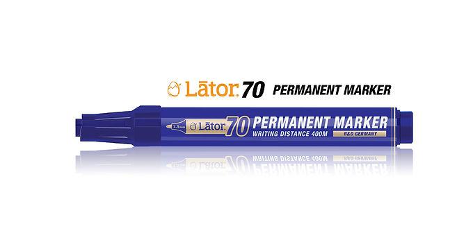 Lator Permanent Marker 70 Blue- 1pc