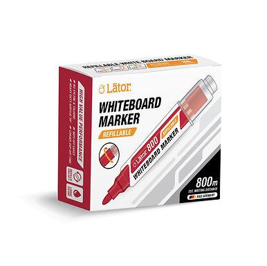 Lator Refillable Whiteboard Marker 800 Red