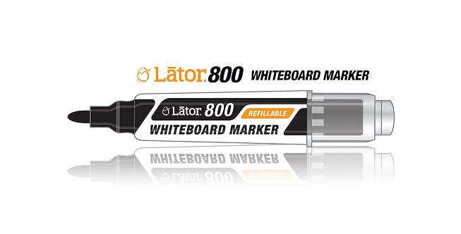 Lator Refillable Whiteboard Marker L800 Black- 1pc