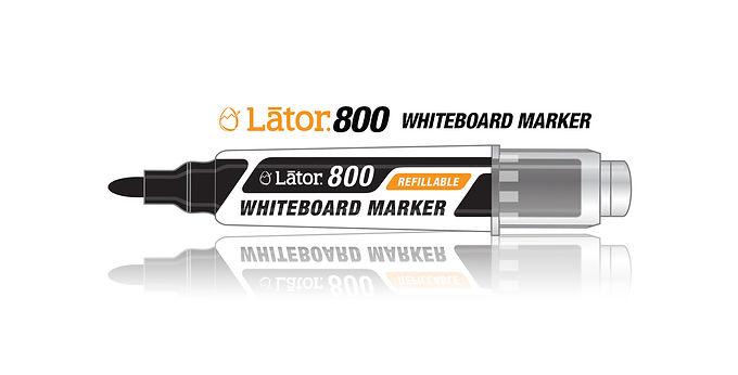 Lator Refillable Whiteboard Marker L800 Black- 1pc